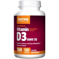 Vitamin D3, 5000 IE, 100 softgels