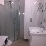Bathroom with shower and WC, washing mashine