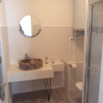 athroom with shower and WC