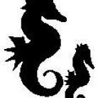 Encaustic Art - Stämpel - Sjöhästar (Beställningsvara)