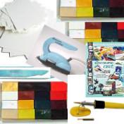 Encaustic Art - Startpaket Färgdrömmarens Midiset (Beställningsvara)