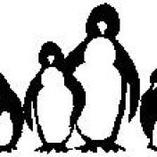 Encaustic Art - Stämpel - Pingviner (Beställningsvara)