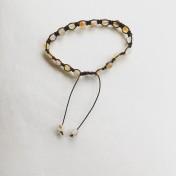#SH05# 18 Bead - Shamballa Wrist Mala (Par) - Agat