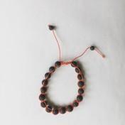 • 18 Bead Wrist Mala | Shamballa(Par) | Black Stone