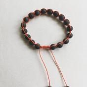 Malaarmband #SH09# 18 Bead - Shamballa Wrist Mala (Par) - Black Stone