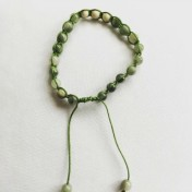 Malaarmband #SH21# 18 Bead - Shamballa Wrist Mala (Par) - Grönstrimmig Jaspis, Magnesit
