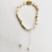 Malaarmband #SH26# 18 Bead - Shamballa Wrist Mala - Aprikos/Grågrön Jade