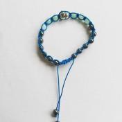 •18 Bead Wrist Mala |Shamballa(Par) |Hematit|Cyan Jade