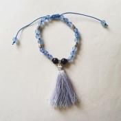 Malaarmband #W132# 18 Bead Wrist Mala - Ljusblå Jade