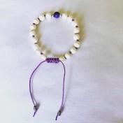 • 18 Bead Wrist Mala |Pärlemor