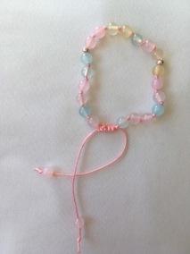 Malaarmband #W59# 21 Bead Wrist Mala - Morganitpastellfärgad Agat