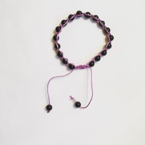 Malaarmband #SH06# 18 Bead - Shamballa Wrist Mala (Par) - Svart Onyx