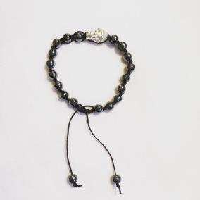 Malaarmband #SH32# 18 Bead - Shamballa Wrist Mala (Par) - Hematit