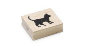 Encaustic Art - Stämpel - Katt