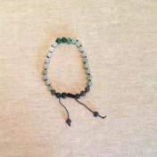 • 27 Bead Wrist Mala | Aventurin | Grönstrimmig Jaspis