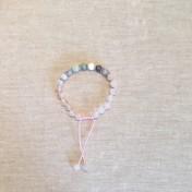 • 21 Bead Wrist Mala | Rosenkvarts| New Jade| Turkos/Lila impression Jaspis| Pärlemor| Lila Sardonyx