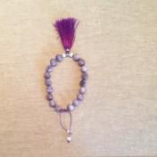 • 18 Bead Wrist Mala | Lilac Stone