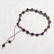 • 18 Bead Wrist Mala | Shamballa (Par) |Onyx (SH02)