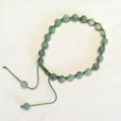 •18 Bead Wrist Mala|Shamballa(Par) |Grön Jaspis|Magnesit (SH21)