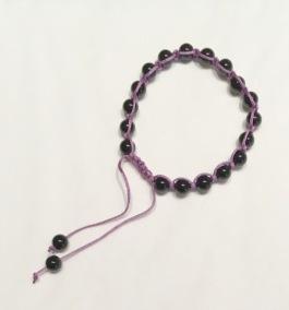 • 18 Bead Wrist Mala| Shamballa(Par) | Onyx (SH06)