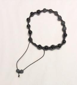 •18 Bead Wrist Mala|Shamballa(Par) |Black Stone|Onyx (SH18)