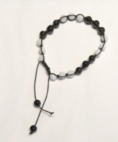 • 21 Bead Wrist Mala | Shamballa | Vit Jade | Onyx (SH07)
