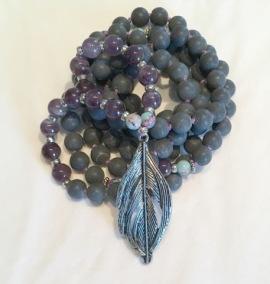 • 108+1 Bead Mala | Black Stone| Ametist (N152)