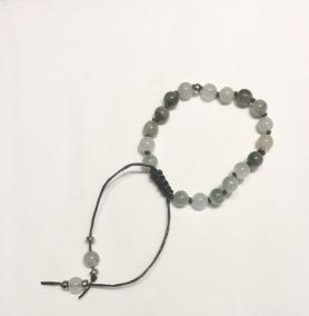 •21 Bead Wrist Mala| Grönstrimmig Jaspis (W56)