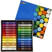 Mungyo Oljepastell - Mixade färger 24-pack