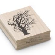 Encaustic Art - Stämpel - (018) Vindblåst Träd