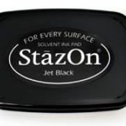 StazOn - Stämpeldyna Svart/Jet Black