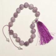 • 18 Bead Wrist Mala | Lilac Stone (W190)