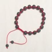 • 18 Bead Wrist Mala | Shamballa(Par) | Black Stone (SH09)