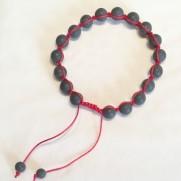 • 18 Bead Wrist Mala | Shamballa(Par) | Black Stone (SH10)