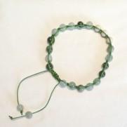 •18 Bead Wrist Mala - Shamballa(Par) |Grön Jaspis|Magnesit (SH22)