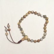 •27 Bead Wrist Mala |Crazy Lace|Howlit (W140)