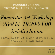 2020-08-26 Encaustic Art - Workshop teknik 18.30 (Kristinehamn)