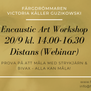 2020-09-20 Encaustic Art - Workshop Teknik 14.00 (ZOOM)