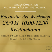2020-09-26 Encaustic Art - Workshop Teknik 10.00 (Kristinehamn)
