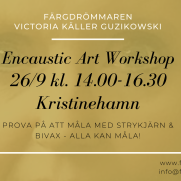 2020-09-26 Encaustic Art - Workshop Teknik 14.00 (Kristinehamn)