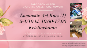 2020-10-03-2020-10-04 Encaustic Art - Kurs (1) Nybörjare (Kristinehamn)