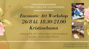 2020-08-26 Encaustic Art - Workshop teknik 18.30 (Kristinehamn)