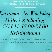 2020-11-05 (240 min) Encaustic Art - Workshop Teknik+Tolkning 17.00 (Kristinehamn)