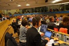 Från Europafackets styrelsemöte den 17 oktober. Bilden tillhör EFS.