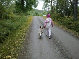 Louise walking with Dessie! :)