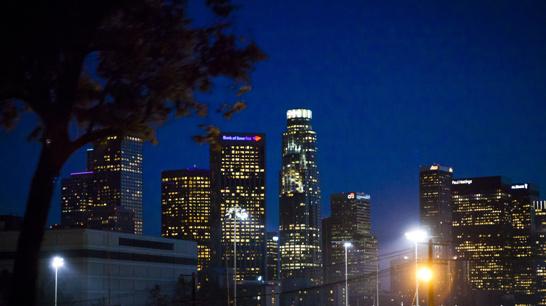 Snapshot på ett vaket Los Angeles på väg hem...