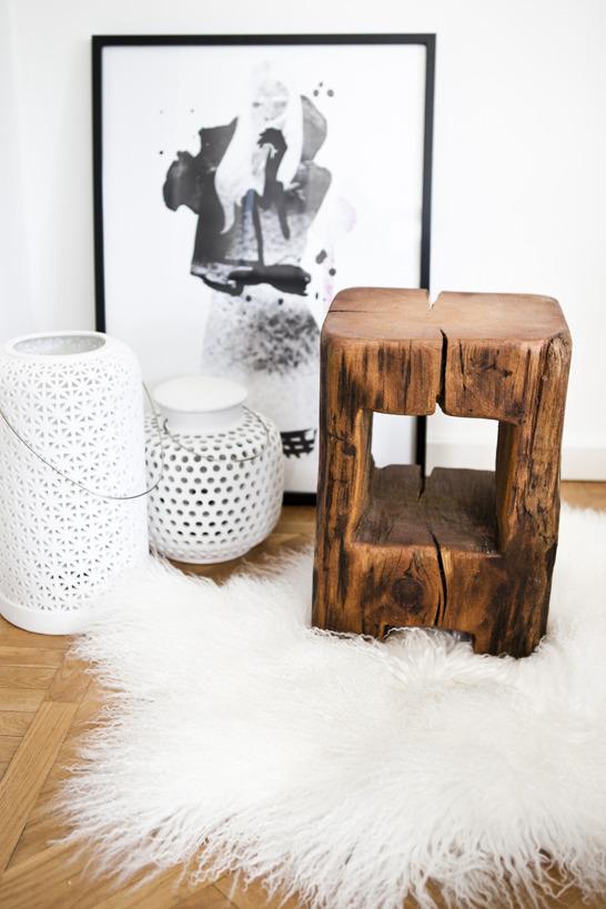 En fantastiskt snygg pall skapad av gamla golvåsar. Återbrukade på ett nytt, kreativt och formsäkert sätt. Älskar, älskar, älskar!