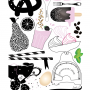 Kökets söta - Baking Love - Pink 30x40cm