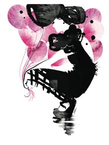 Kort - Black Balloon
