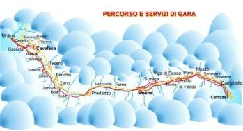 Bansträckning Marcialonga GS Tours